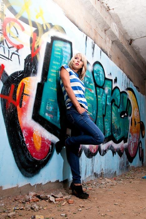 Модель графити фото