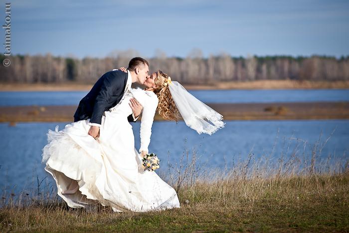 Свадебный танец на природе