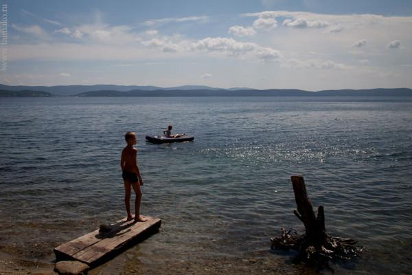 Дети, озеро Тургояк