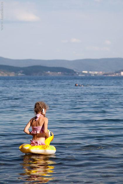 Озеро Тургояк ребенок