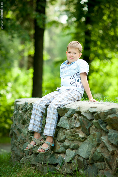 Детская фотосъёмка летом