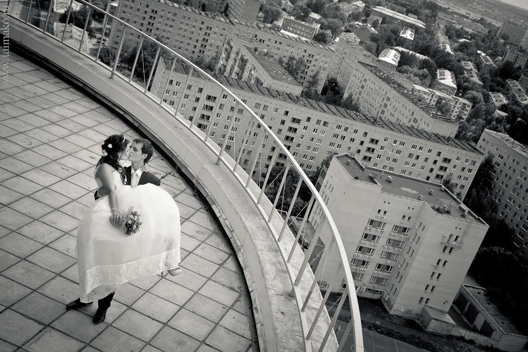 Необычные свадебные кадры