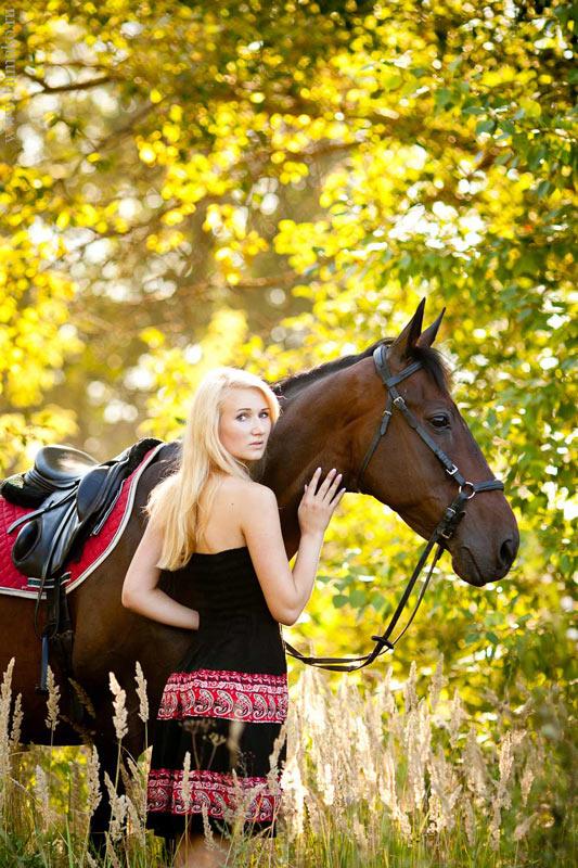 Летняя фотосессия с лошадью