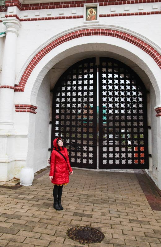 Спасские ворота были построены в 1670-х годах вместе со стенами Государева двора и служили въездом в хозяйственную часть дворцовой усадьбы.