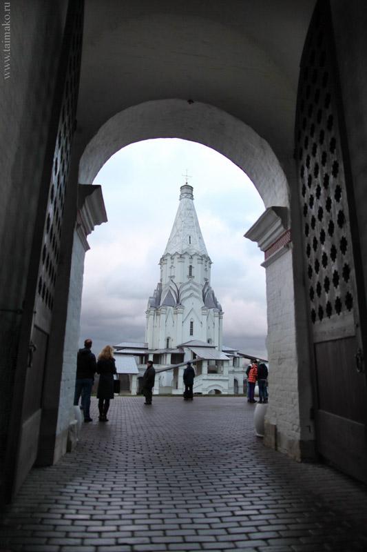 Вид на Церковь Вознесения Господня. Её строительство было закончено в 1532г.