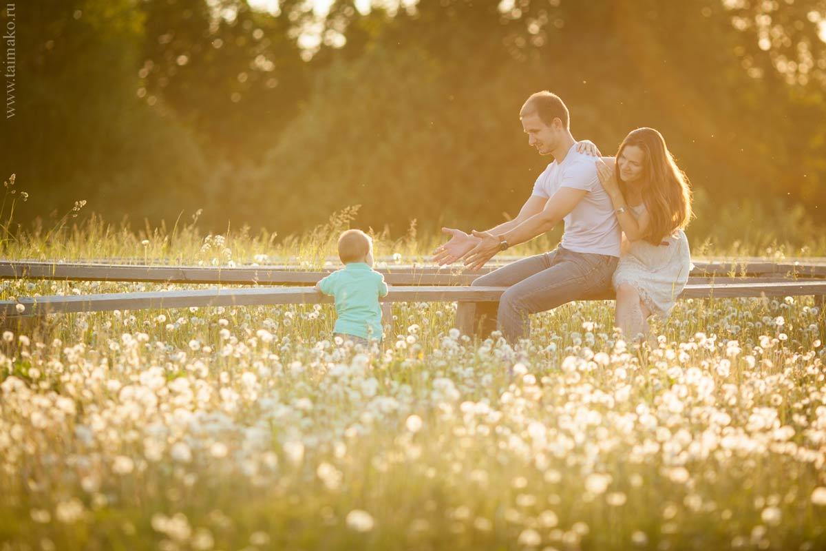 Семейная фото сессия на природе